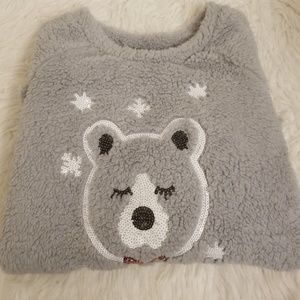 Faded glory fluffy top NWOT